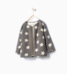 ZARA - KIDS - Star knit coat