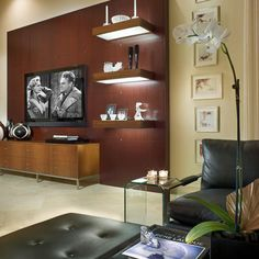 Contemporary decoration and design ideas, inspiring paintings, incredible bedroom and bathroom interior designs, fantastic lives on this site. Wall Mount Tv Shelf, Wall Mounted Tv, Tv Shelf Design, Regal Design, Traditional Bedroom, Contemporary Bedroom, Modern Contemporary, Living Room Inspiration, Living Room Modern