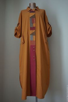 I like that front placket. Safari style shirt in the Lagenlook mode. Abaya Fashion, Boho Fashion, Fashion Outfits, Womens Fashion, Abaya Mode, Kleidung Design, Mode Kimono, Hijab Stile, Kurta Designs Women