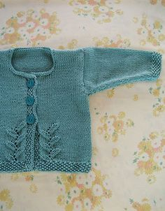 Free+Knitting+Pattern+-+Baby+Sweaters:+Provence+Baby+Cardigan by Chalkymac Walker Free Baby Sweater Knitting Patterns, Knit Baby Sweaters, Knitted Baby Clothes, Knitting For Kids, Baby Patterns, Knit Patterns, Free Knitting, Sweater Patterns, Knitting Projects