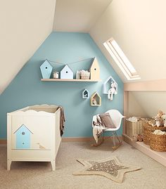 Like the bird houses on the shelf - Nursery awwe baby birdie