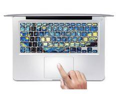 Fashion Ultrathin Van Gogh Sky Keyboard Stickers For MacBook Air 13 Inch
