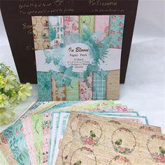 24 Sheets Scrapbooking Paper - In Bloom