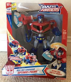 TRANSFORMERS ANIMATED SUPREME CLASS ROLL OUT COMMAND OPTIMUS PRIME IN BOX    eBay