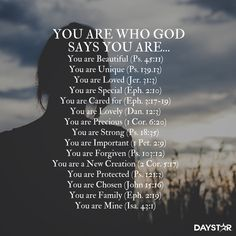 You are who God says you are...[Daystar.com]