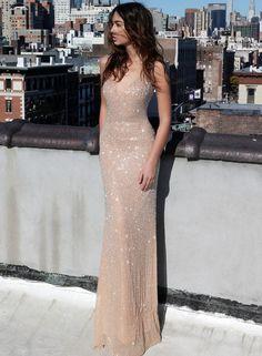 V-neck Spaghetti Straps Mermaid Evening Dress,Floor Length Sleeveless Prom Dress