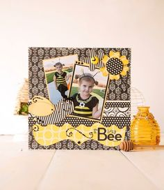 My Busy Bee Susan made this layout of her youngest daughter Lacey years ago using photos from her at Halloween. For those of you who may not of seen it in the past I thought … Kids Scrapbook, Scrapbook Paper Crafts, Scrapbooking Layouts, Scrapbook Pages, Kiwi Lane Designs, Bee Theme, Busy Bee, Page Layout, Mini Albums