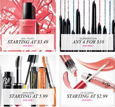 #GreatDeals on #nailpolish, #eyeliner, #mascara & #lipgloss in Campaign 4! Don't miss out! Shop now at https://krislingsch.avonrepresentative.com/
