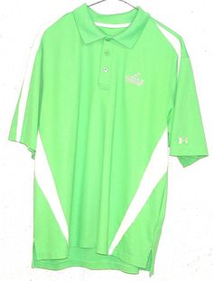 Under Armour FOWLERS MILL GOLF COURSE Mens Green Short Sleeve Polo Shirt Medium #UnderArmour #PoloRugby