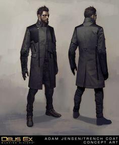 Adam Jensen's New Coat, Frédéric Bennett on ArtStation at https://www.artstation.com/artwork/adam-jensen-s-new-coat