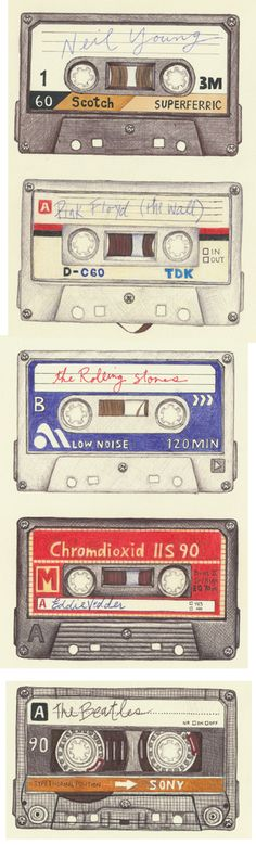M.McLean drawing #illustration #tapes