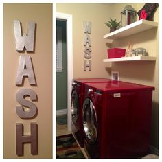 """DIY """"Wash"""" letters - easy and only $10 to make!"""