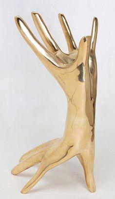 KELLY WEARSTLER | DICHOTOMY SCULPTURE. Signature double hand surreal art