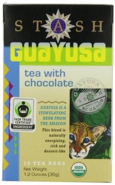 Stash Tea Guayusa with Chocolate 18-Count (Pack of 6)