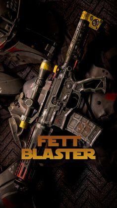 TFB Exclusive: The Mandalorian Fett Blaster - Airsoft Guns, Weapons Guns, Guns And Ammo, Custom Ar15, Custom Guns, Steampunk Weapons, Rifle Stock, Mandalorian Armor, Ar Pistol