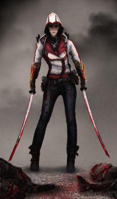 ArtStation - Female Assassin, Clarence Ong                              …