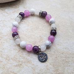 Náramek ametyst, purple angelit, magnezit, jadeit Beaded Bracelets, Purple, Jewelry, Jewlery, Jewerly, Pearl Bracelets, Schmuck, Jewels, Jewelery