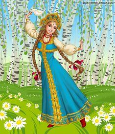 tableaux art digital de lia selina - Page 2 Pretty Art, Cute Art, Art Populaire Russe, Creation Photo, Russian Folk Art, Russian Painting, Fairy Princesses, Russian Fashion, Flower Fairies