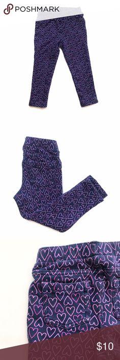 🌷B2G1 FREE🌷Purple Heart Leggings Dark purple leggings with stenciled heart pattern all over. Back pockets. GUC for light WW. Bottoms Leggings