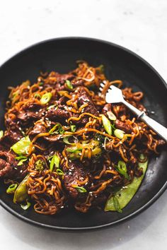 This Teriyaki Steak Stir Fry is so easy to put together — steak covered in a savory sauce with plenty of veggies and easy Ramen noodles. Teriyaki Stir Fry, Beef Noodle Stir Fry, Teriyaki Steak, Steak Stir Fry, Beef And Noodles, Ramen Noodles, Teriyaki Chicken, Steak Stirfry Recipes, Cube Steak Recipes