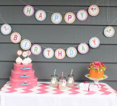 LOLLIPOP Happy Birthday Party Banner by LolosBoutique on Etsy