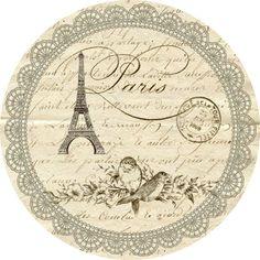 ...★... DFEL Etiquette Ronde Paris Retro