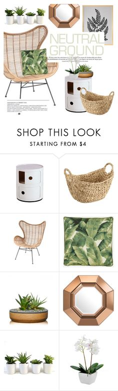 """""""neutral ground"""" by cielshopinteriors ❤ liked on Polyvore featuring interior, interiors, interior design, home, home decor, interior decorating, Ciel and Eichholtz"""