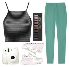 Tumblr Girl by tilghmanwhite1 on Polyvore featuring polyvore, ファッション, style, Topshop, Rochas, NIKE, Forever 21, Fuji, fashion and clothing