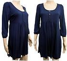 Navy Blue Puff Sleeve Jersey Tunic / Smock Jumper Dress size 10 to 24 on eBay for £9.99