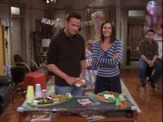"""Friends Bloopers...I didn't think """"Pivaaaat"""" could get funnier! 2:22 is the cutest thing ever!!!!"""