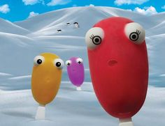 Frosty Friends Popsicle Mold - The 'Just Mustard' frosty friends popsicle mold is adorably animated. These googly-eyed ice treats are as fun to make as they are to ea. Homemade Popsicles, Homemade Ice, Frozen Summer, Popsicle Molds, Ice Pops, Summer Treats, Top Gifts, Rubber Duck, Mustard