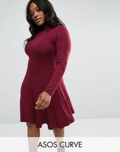 d421cfb17f07e ASOS CURVE Jersey Dress With Frill Hem Style Wish