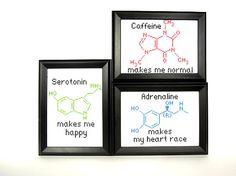 Molecule Cross Stitch @Nikki VandenHeuvel LOVE this!!!!