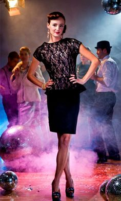 ballroom peplum blouse black lace over ivory make it straight instead two pattern