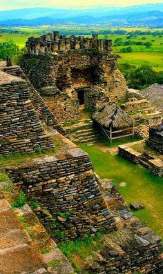 Ruinas mayas de Tonina en Chiapas, México