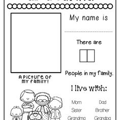All About My Family Freebie! - The Super Teacher - The turtles room- All About My Family Freebie! – The Super Teacher All About My Family Freebie! My Family Worksheet, All About Me Worksheet, Kindergarten Worksheets, Worksheets For Kids, In Kindergarten, Grammar Worksheets, Preschool Family Theme, Preschool Activities, Family Activities