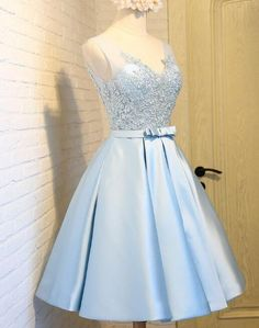 Tight Blue Dress Formal Satin 67 Ideas For 2019 Dama Dresses, Quince Dresses, Prom Dresses Blue, Pretty Dresses, Formal Dresses, Cute Dresses For Party, Prom Party Dresses, Quinceanera Dresses, Dress Party