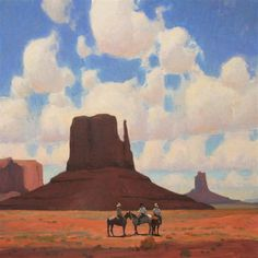 Valley Riders 42x42 oil by Glenn Dean