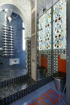 Ванная комната в турецком стиле. #ванная_в_турецком_стиле #яркая_плитка #ванная_комната #дизайн_ванной