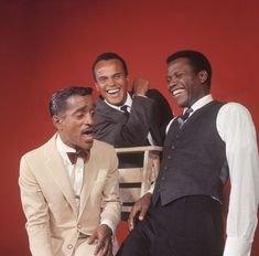 Sammy Davis Jr, Harry Belafonte, and Sidney Poitier. In a photo session for LIFE magazine in February, Sammy Davis Jr, Hollywood Stars, Classic Hollywood, Old Hollywood, Harry Belafonte, Black Actors, Black Celebrities, Celebs, Divas