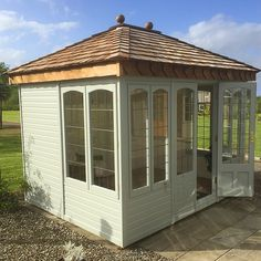 The Malvern Ashton Summer house is available from GBC Group, delivery and installation are included as standard. Small Summer House, Corner Summer House, Summer House Garden, Summer Houses, Backyard Buildings, Backyard Gazebo, Backyard Retreat, Garden In The Woods, House In The Woods