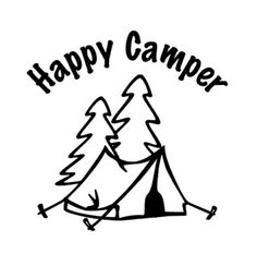 Happy Camper Decal Car Decals Camping