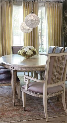 This dining room set is a stunner  Soft & Elegant  ● Dining Room