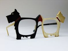 "Extremely rare Anglo-American ""Scottie"" vintage Elton John spectacle frames. These are just too damn cute."