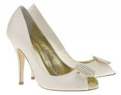 a405276fe47a Freya Rose Designer Wedding Shoes - Bridea - ideas for brides Kitten Heel  Wedding Shoes