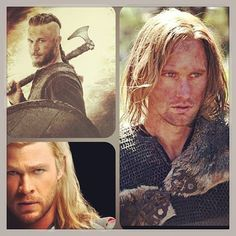 Ragnar and two other well known Vikings (Eric Northman & Thor)