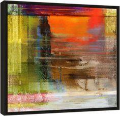 Quadro Abstrato Final de Tarde Londrino – Carlos Alber — Reprodução em alta definição (gicleé) com pigmento mineral sobre canvas premium e acabamento texturizado.