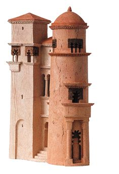 this may be from roman day but could be of today Clay Houses, Ceramic Houses, Miniature Houses, Ben's Bells, Architectural Sculpture, Concrete Houses, Fantasy Miniatures, Contemporary Sculpture, Installation Art