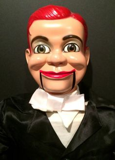 creepy... RARE 1960's Jerry Mahoney Ventriloquist Dummy with Moving Eyes