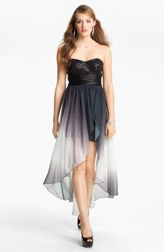 Speechless Embellished High/Low Dress (Juniors) | Nordstrom